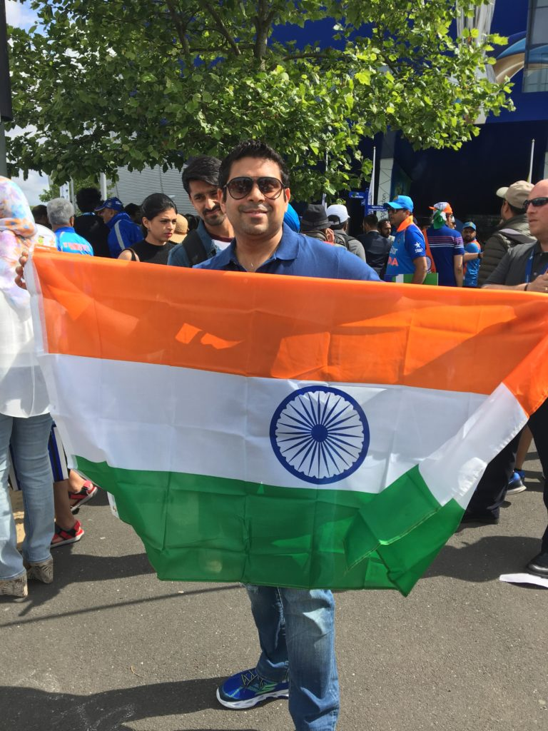 Supporting Indian Team